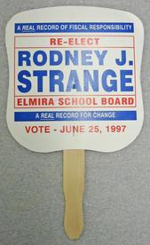 Fan from Rodney J. Strange's Elmira School Board campaign, 1997