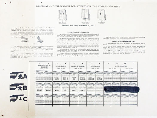 lever voting machine instructions