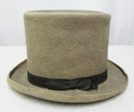 Top hat worn by a member of the David B. Hill Club of Elmira, 1892