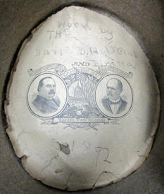 Inside the top hat is a campaign advertisement for Grover Cleveland and Adlai E. Stevenson.