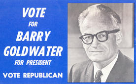 Handbill from Republican Barry Goldwater's  presidential campaign, 1964