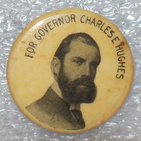 Charles E. Hughes button, 1906