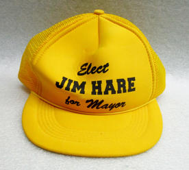 Hat from Jim Hare's mayoral campaign, 1988PG