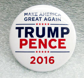 Donald Trump and Mike Pence button, 2016
