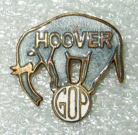 Herbert Hoover pin, 1928