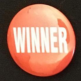George Winner button, 1996
