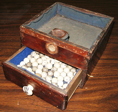 Ballot box with marbles