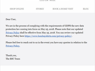 Indian shirt company's proactive GDPR compliance