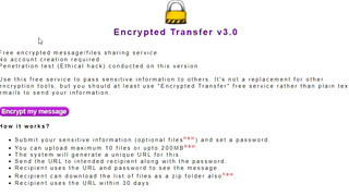 encryptedtransfer.com is now more secure and allows file transfers