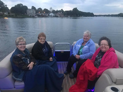 boat ride at Heather's