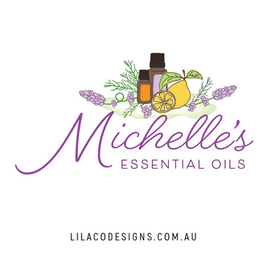 Michelle's Essential Oils Logo Design by Lilaco Designs