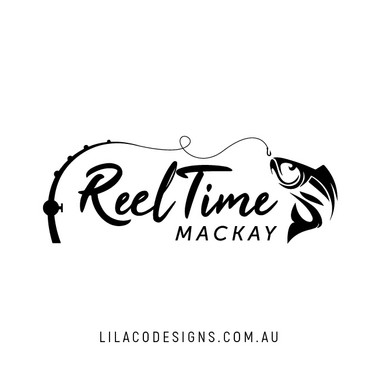 Reel Time Mackay Logo Design by Lilaco Designs