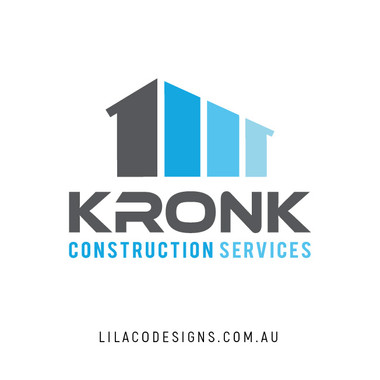 Kronk Construction Services Logo Design by Lilaco Designs