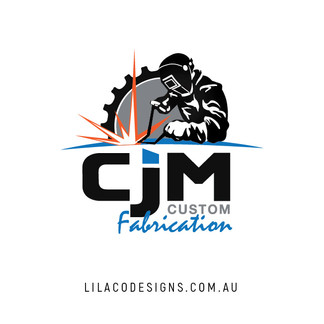 CJM Cutom Fabrication Logo Design by Lilaco Designs