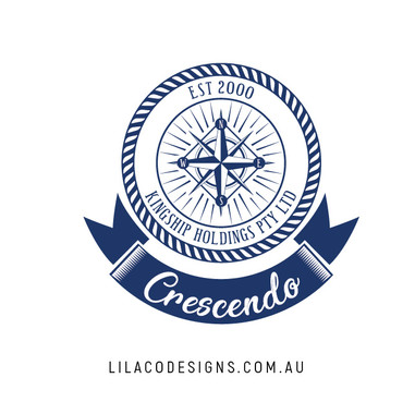 Crescendo Boat Logo Design by Lilaco Designs