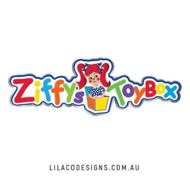 Ziffy's Toy Box Logo Design by Lilaco Designs