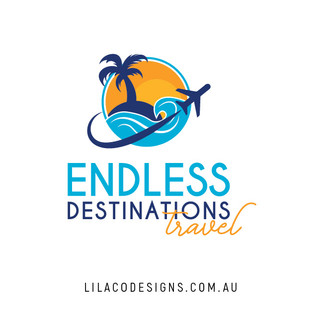 Endless Destinations Travel Logo Design by Lilaco Designs
