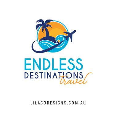 Endless Destinations Travel Logo Design by Lilaco Designs