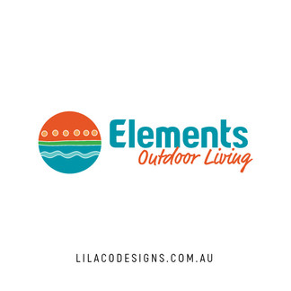 Elements Outdoor Living Logo Design by Lilaco Designs