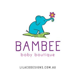 Bambee Baby Boutique Logo Design by Lilaco Designs