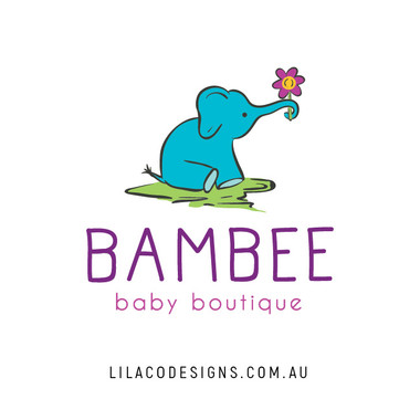 Bambee Baby Boutique Logo Design by Lilaco Designs