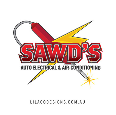 Sawd's Auto Electrical & Air-Conditioning Logo Design by Lilaco Designs