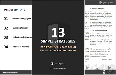 13 Simple Strategies - To Prevent Your Organisation Falling Victum to Cyber Threats