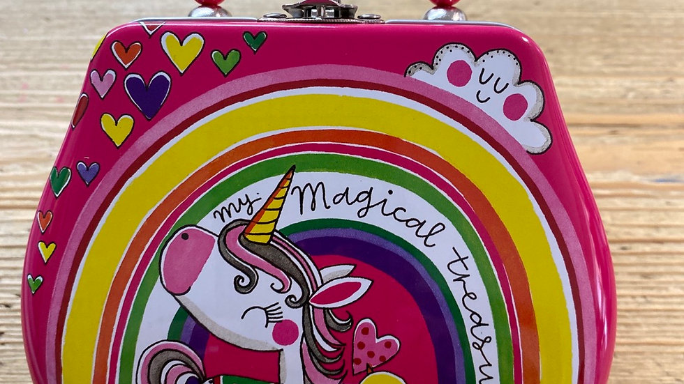 Rachel ellen hand bag tin unicorn