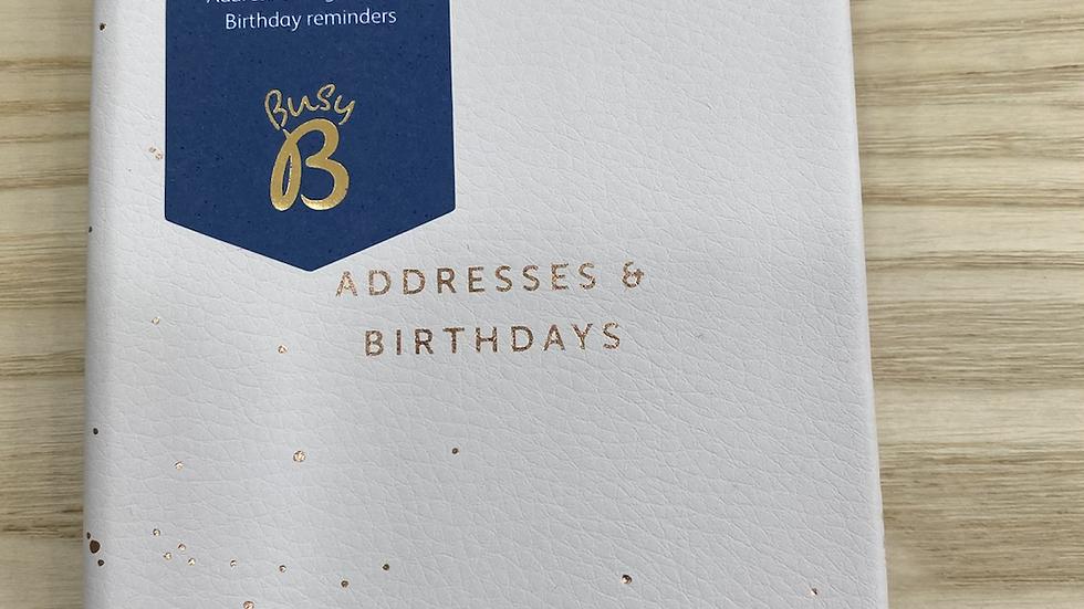 Busy B Address & Birthday book