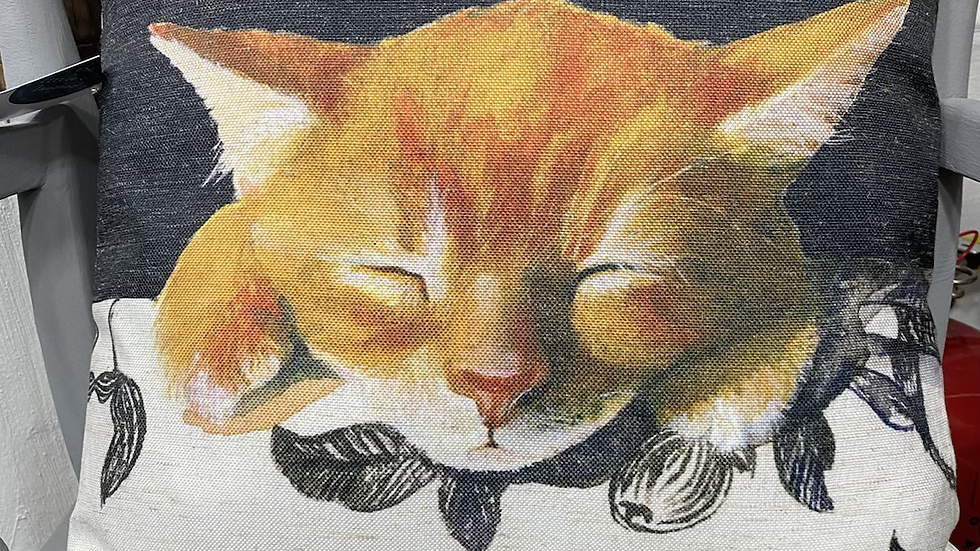 The little dog laughed cat cushion