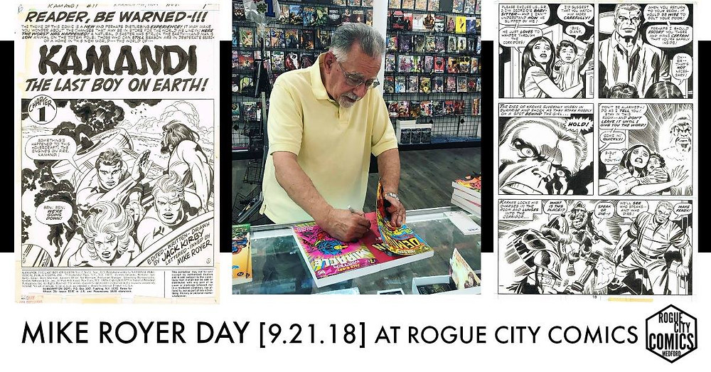 Mike Royer (Jack Kirby inker) Signing