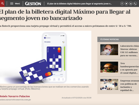The Maximo digital wallet plan to reach the unbanked youth segment.