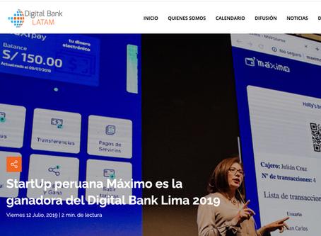 StartUp peruana Máximo es la ganadora del Digital Bank Lima 2019