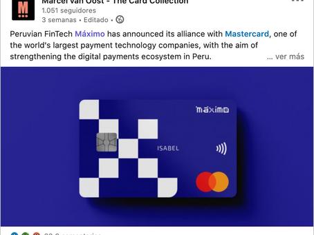Peruvian FinTech Máximo announced alliance with Mastercard.