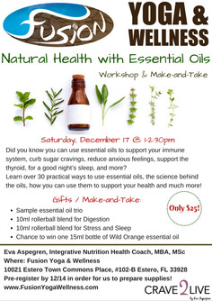 Natural Health with Essential Oils - Workshop and Make-And-Take