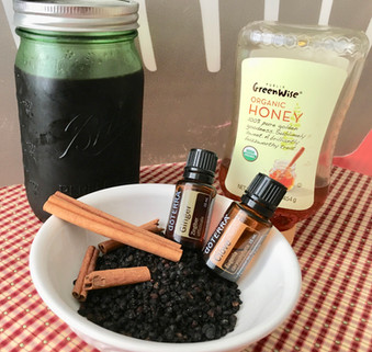 Immune-Boosting Elderberry Syrup with Essential Oils