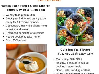 Clean Eating Cooking Demos - November