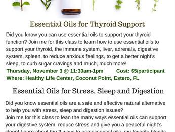 Essential Oils Classes in November