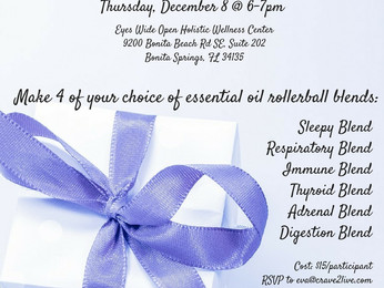 Essential Oils Holiday Make and Take Class