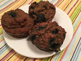 Easy Paleo Blueberry Muffins