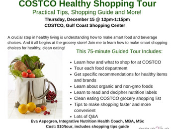 COSTCO Healthy Shopping Tour in December!