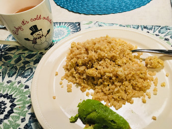 Easy Asian Fried Cauli-Rice  {Paleo, Gluten-free, Grain-free, Vegetarian}