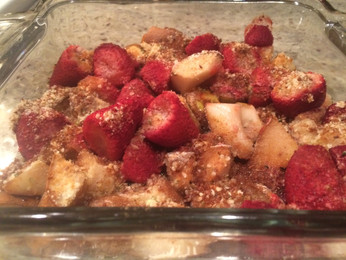 Late-Night Strawberry-Pear Crumb for Dummies