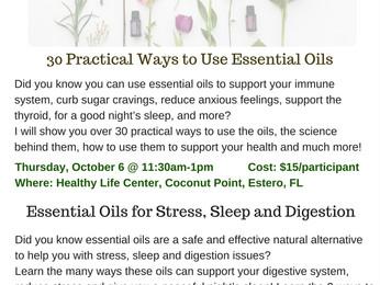Essential Oils Classes in October