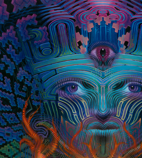 Detail of Hierophant Painting by Luke Br