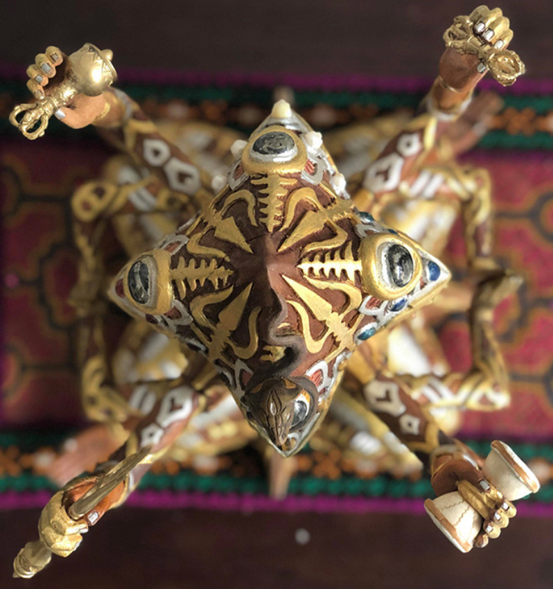 Shambhala Wooden Sculpture by Visionary Artist Luke Brown