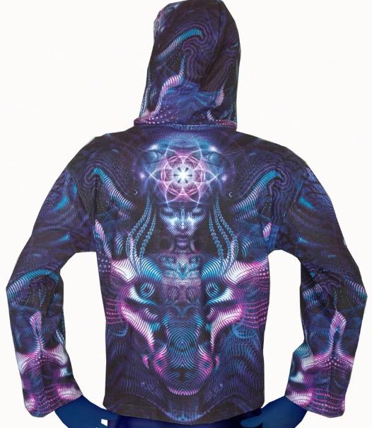 Violet Hooded Zip Jacket