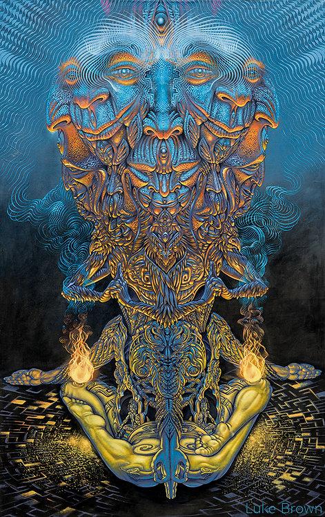 VISHVARUPA - Luke Brown Canvas Print - Signed Edition of 111