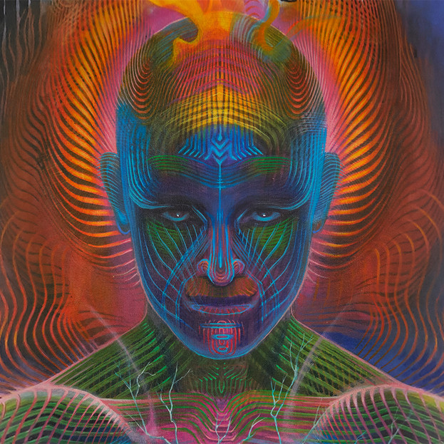 DMT Art Prometheus Painting by Artist Luke Brown Spectraleyes detail 7.jpg