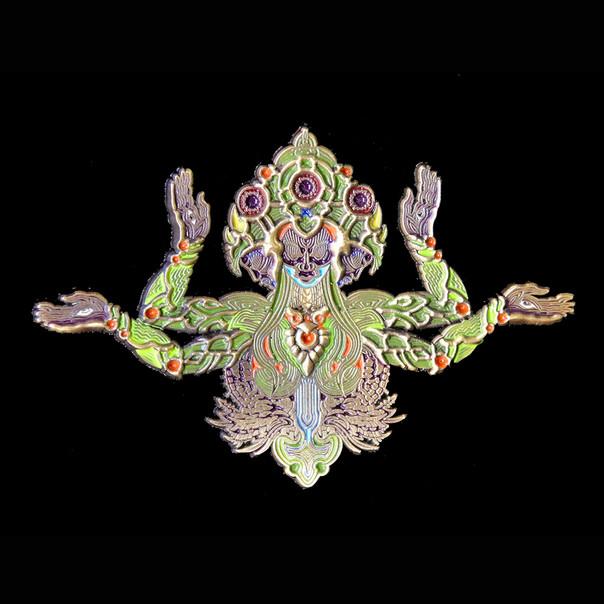'Mantis' Pin by Luke Brown - Green